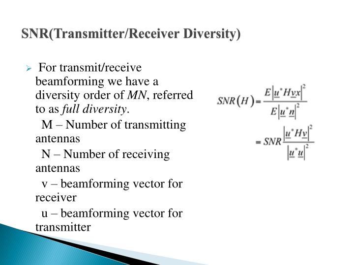 SNR(Transmitter/Receiver Diversity)