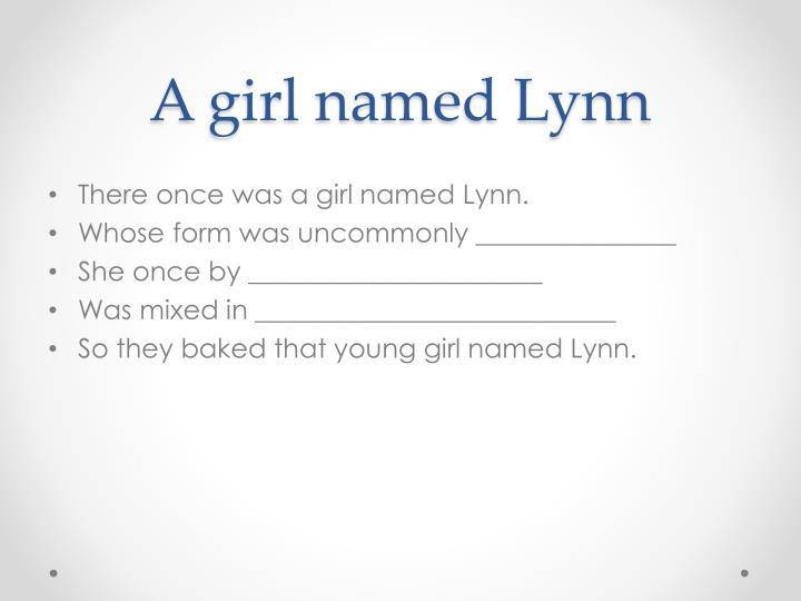 A girl named Lynn