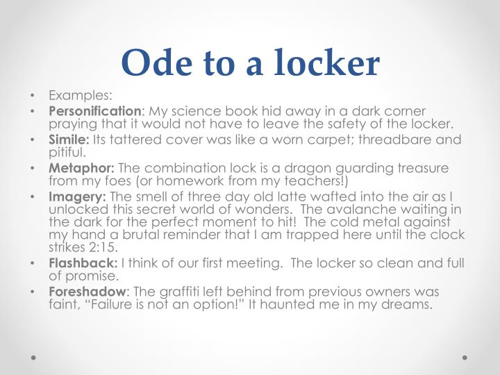 Ode to a locker