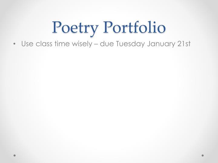 Poetry Portfolio