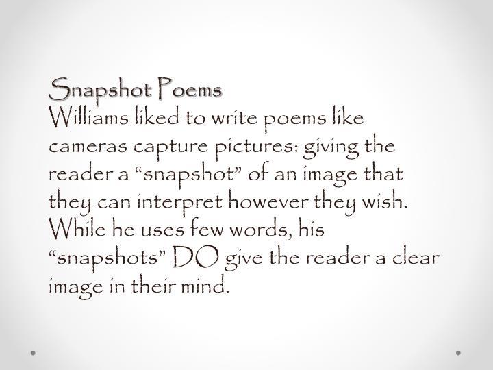 Snapshot Poems