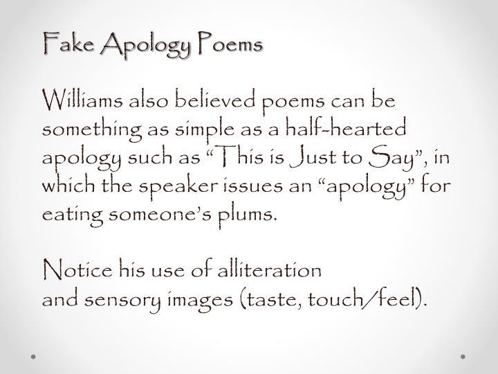 Fake Apology