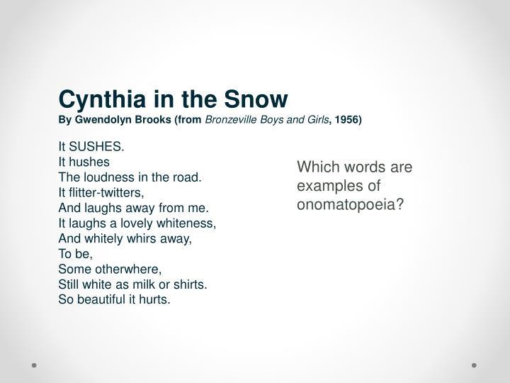 Cynthia in the Snow
