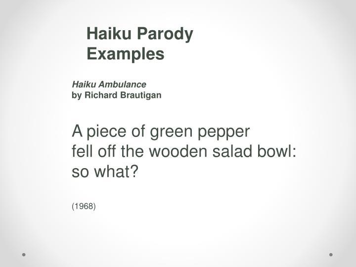 Haiku Parody Examples