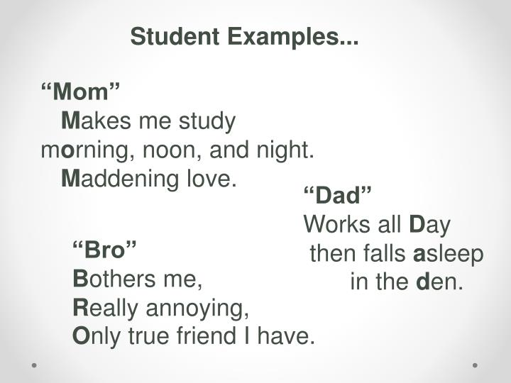 Student Examples...