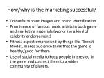 how why is the marketing successful