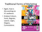traditional forms of marketing1