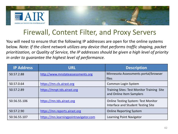 Firewall, Content Filter, and Proxy Servers