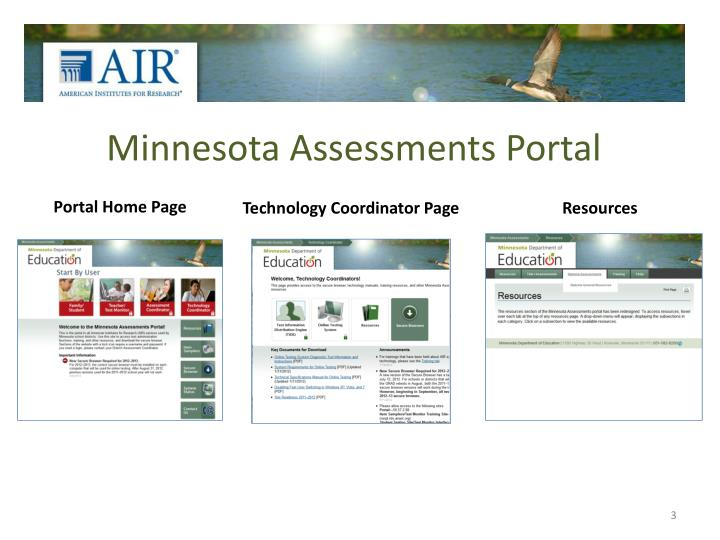 Minnesota assessments portal