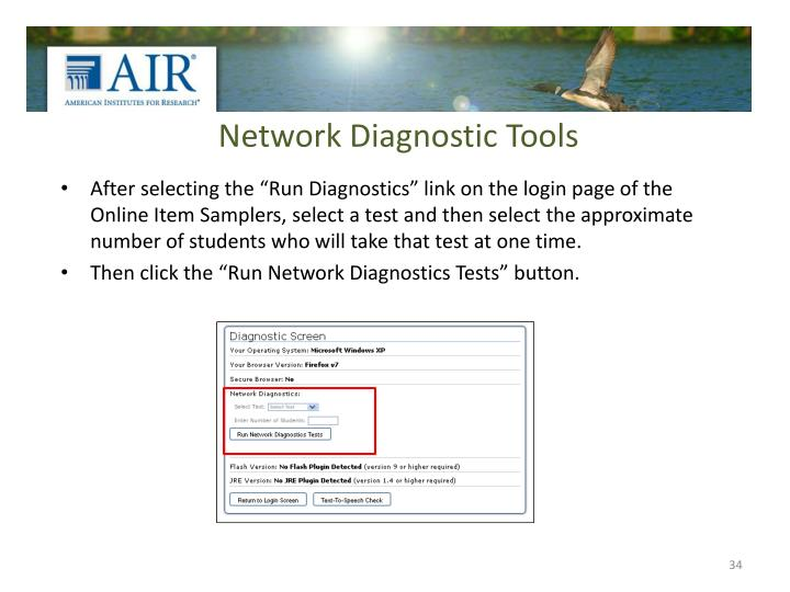 Network Diagnostic Tools