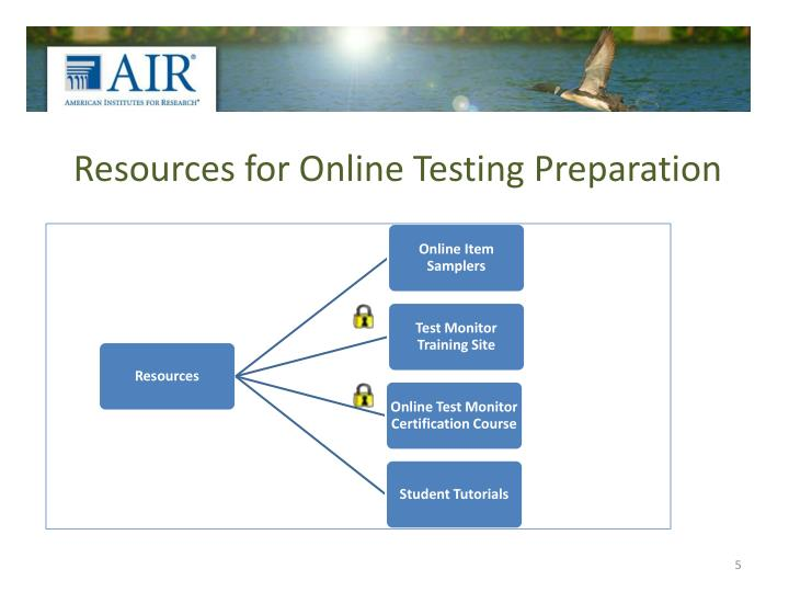 Resources for Online Testing Preparation