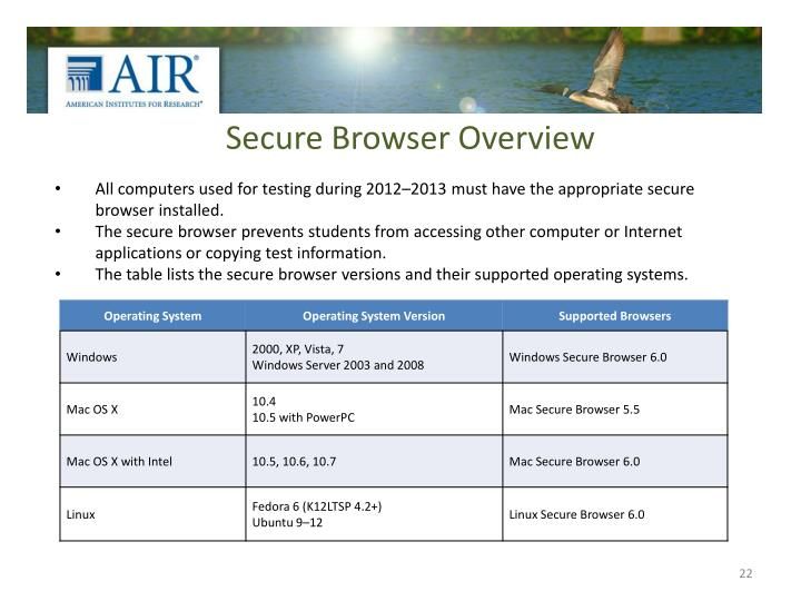 Secure Browser Overview