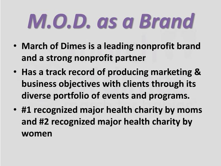 M.O.D. as a Brand