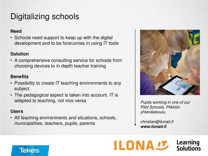 Digitalizing schools