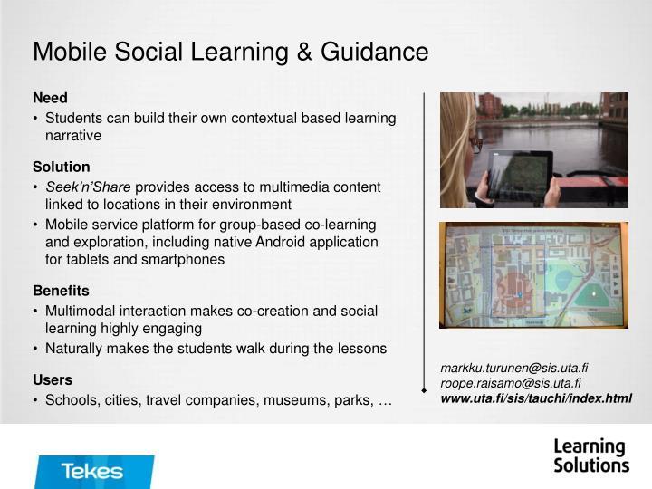 Mobile Social Learning &