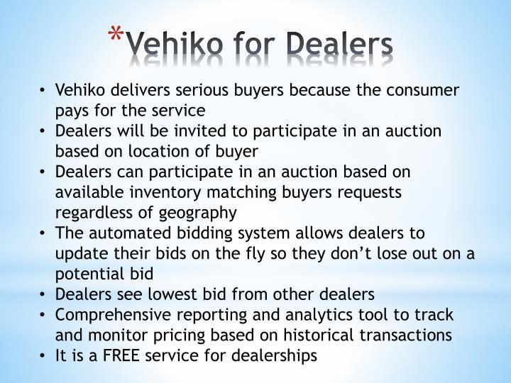 Vehiko for Dealers