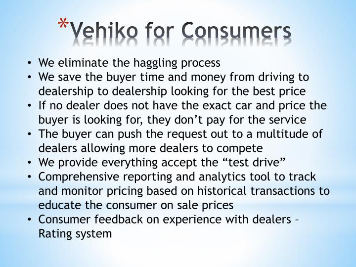 Vehiko for Consumers