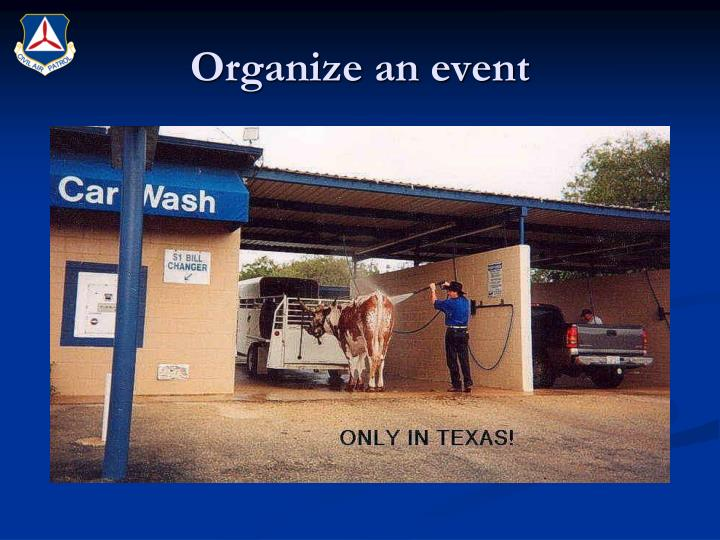 Organize an event