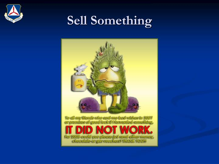 Sell Something