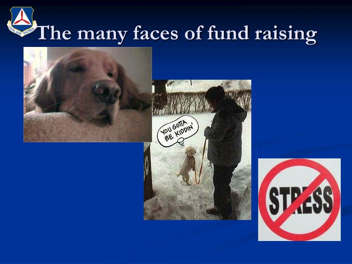 The many faces of fund raising