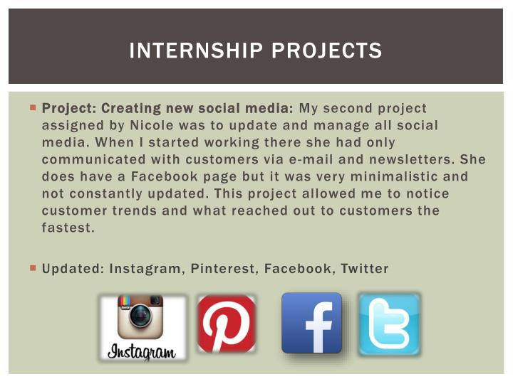 INTERNSHIP PROJECTS