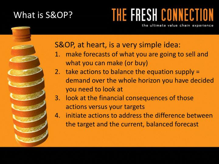 What is S&OP?