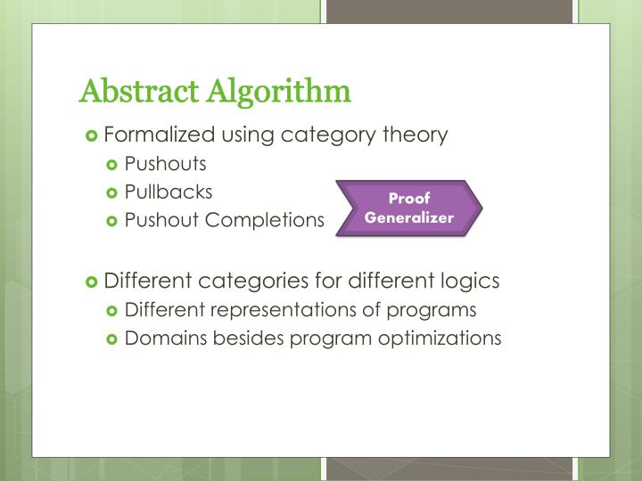 Abstract Algorithm