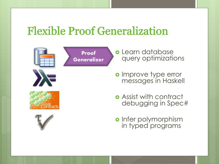 Flexible Proof Generalization