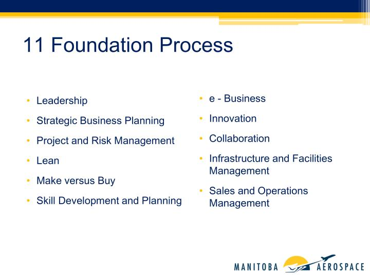 11 Foundation Process