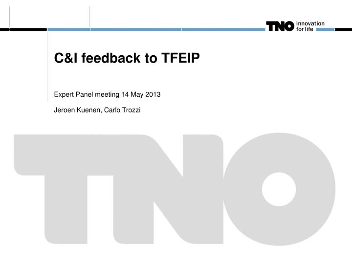 C i feedback to tfeip