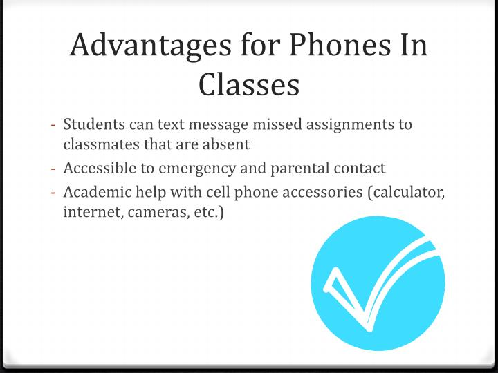 Advantages for Phones In Classes