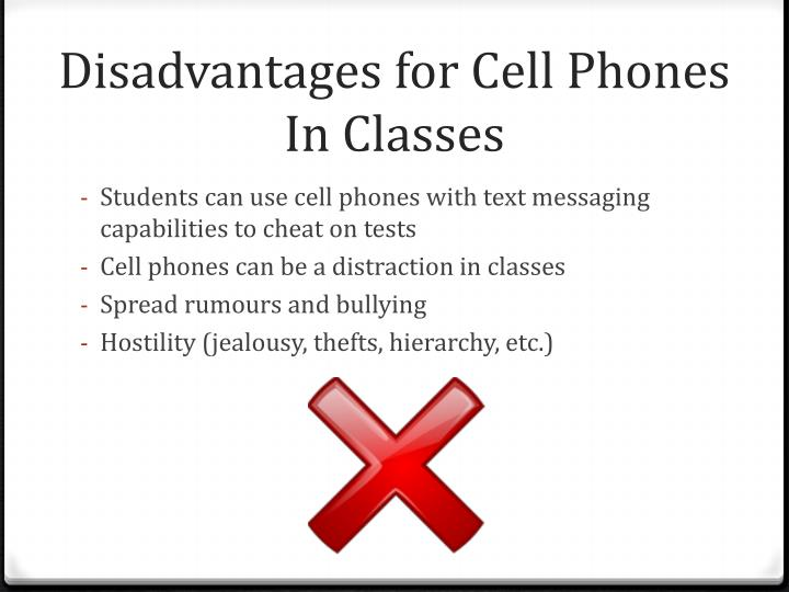 Disadvantages for Cell Phones In Classes