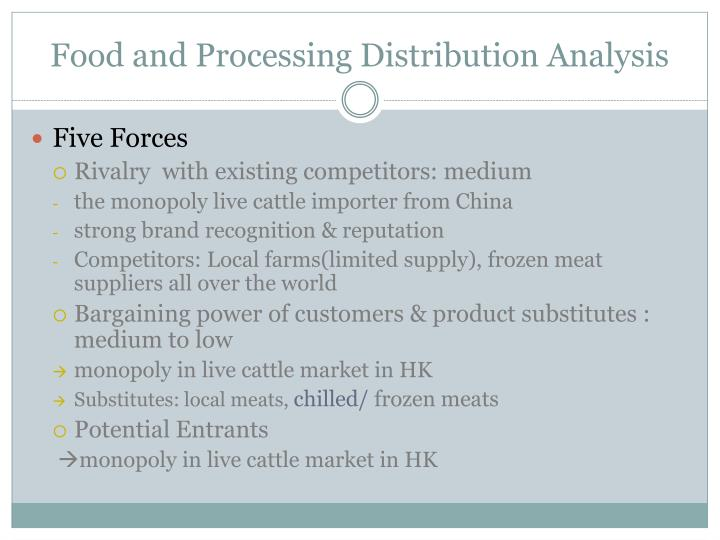 Food and Processing Distribution Analysis