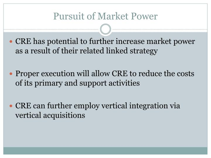 Pursuit of Market Power