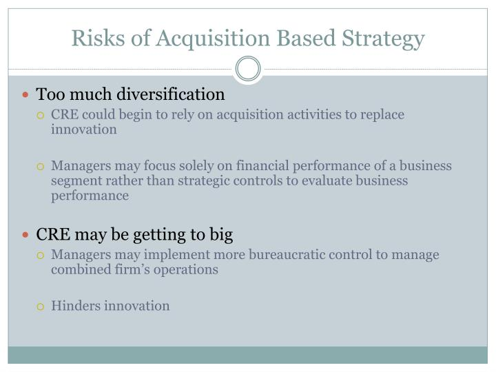 Risks of Acquisition Based Strategy