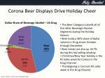 corona beer displays drive holiday cheer1