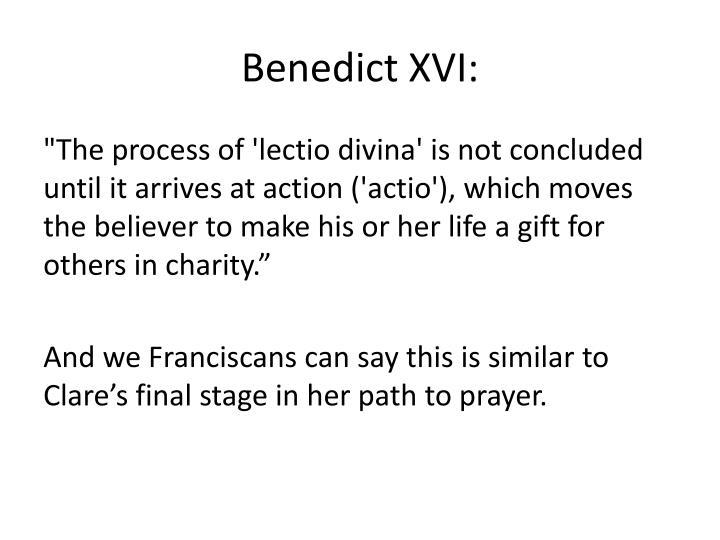 Benedict XVI: