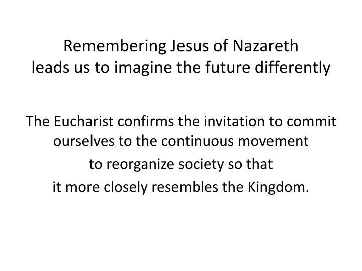Remembering Jesus of Nazareth
