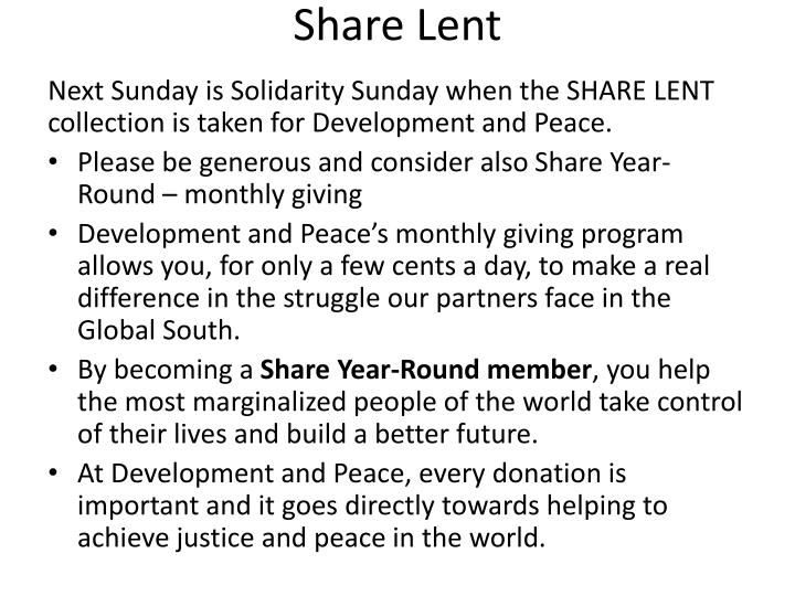 Share Lent