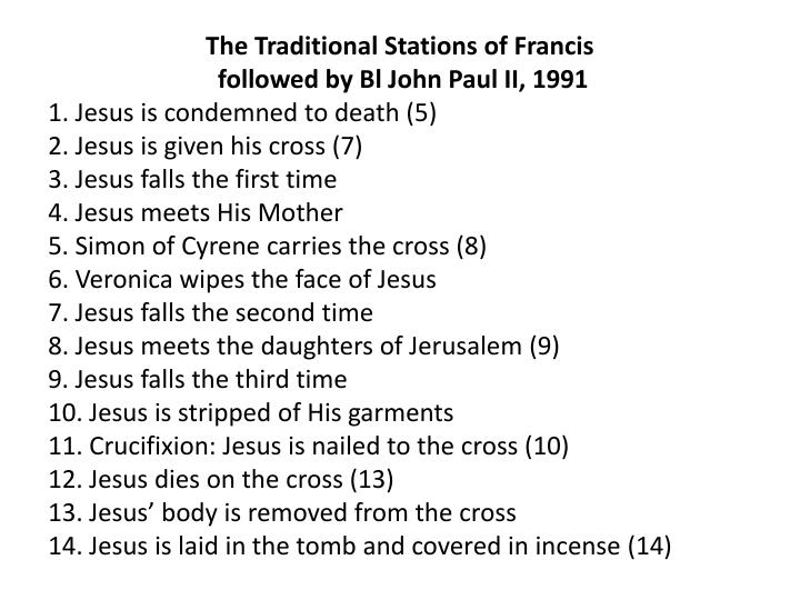 The Traditional Stations of Francis