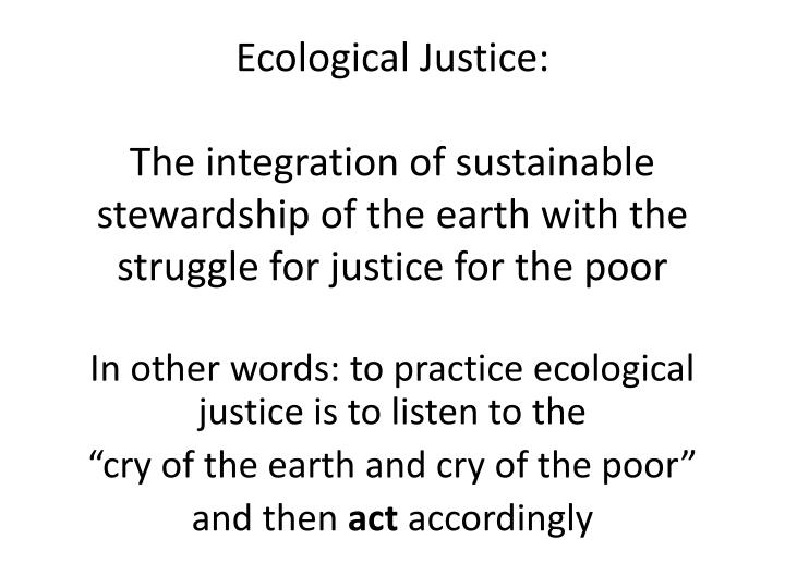 Ecological Justice: