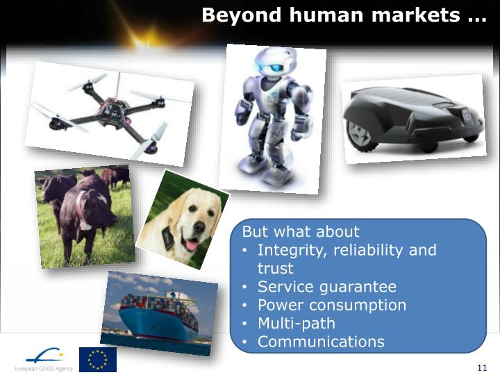 Beyond human markets …