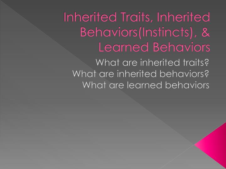 what is a learned behavior