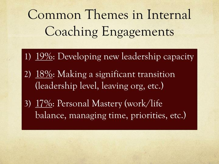 Common Themes in Internal Coaching Engagements