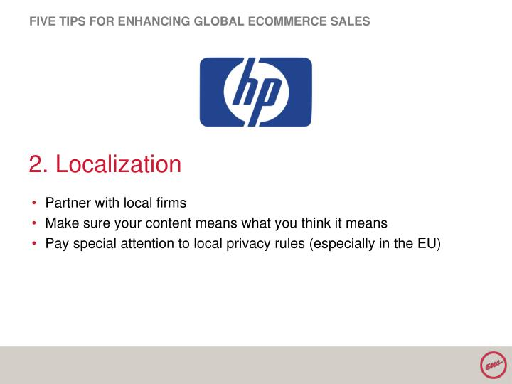FIVE TIPS FOR ENHANCING GLOBAL ECOMMERCE SALES
