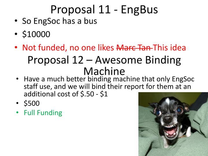 Proposal 11 -