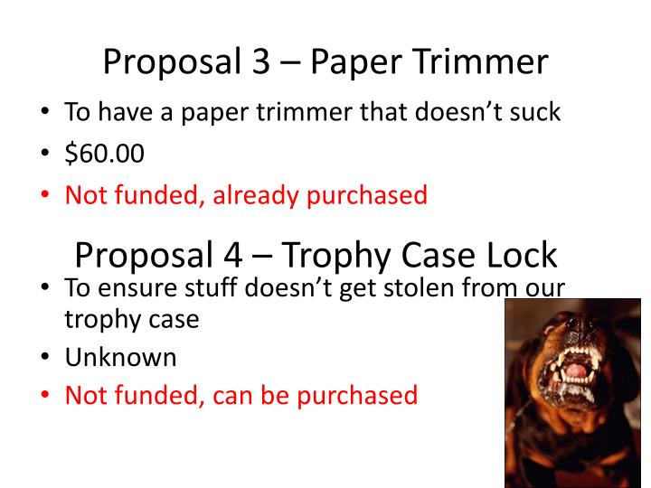 Proposal 3 – Paper Trimmer