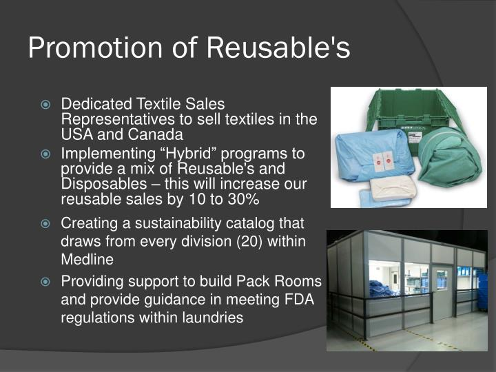 Promotion of Reusable's