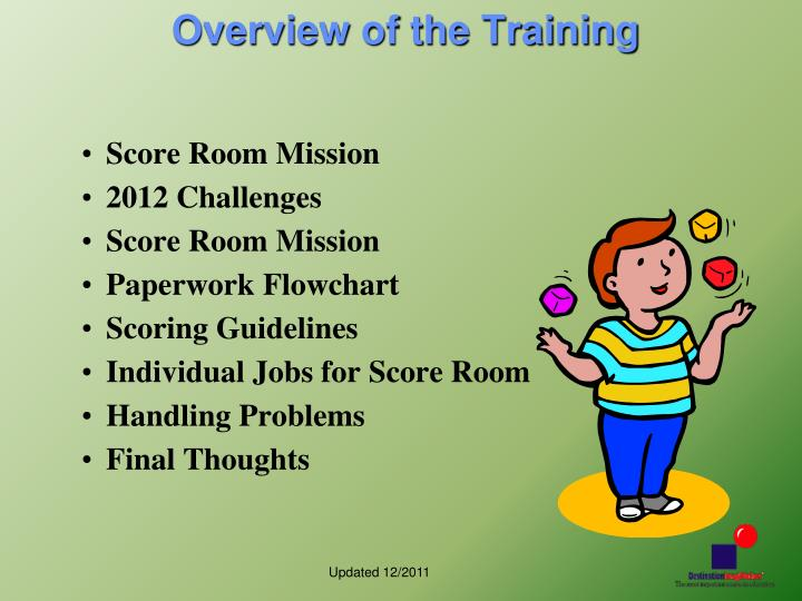 Overview of the Training