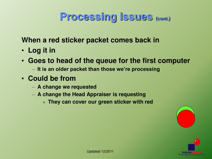 Processing Issues